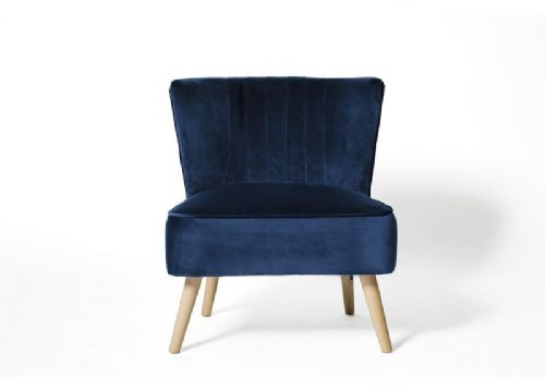 Home Essential UOL 123 Plush Blue Accent Chair